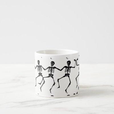 Dancing Skeletons Halloween Thunder_Cove Espresso Cup