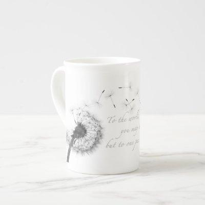 Dandelion Inspiration Bone China Mug