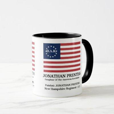 DAR Personalized American Flag Coffee Mug
