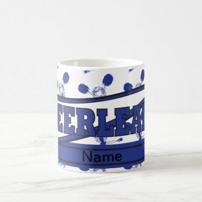 Dark Blue Personalize Cheerleader Mugs