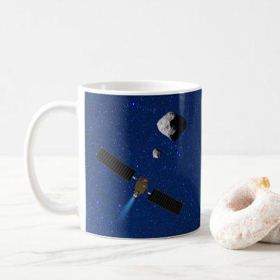 DART Asteroid Deflecting Spacecraft Coffee Mug