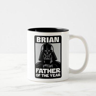 Darth Vader Comic | Custom Father of the Year Two-Tone Coffee Mug