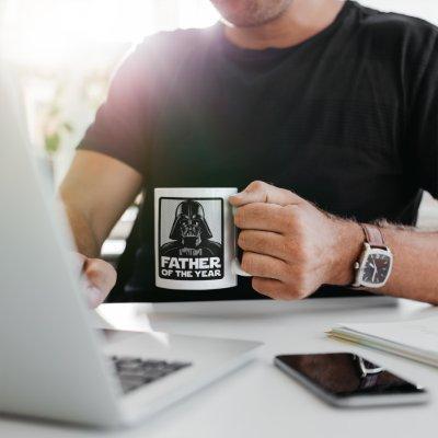 Darth Vader Comic | Father of the Year Two-Tone Coffee Mug