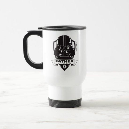 """Darth Vader """"Father of the Year"""" Crest Travel Mug"""