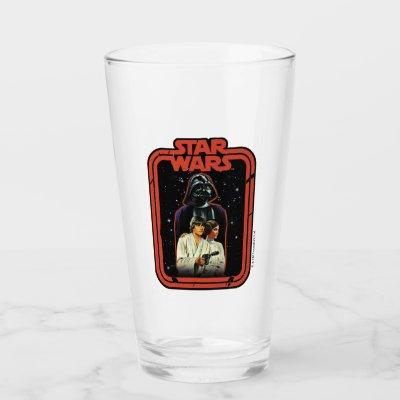 Darth Vader, Luke, & Leia Star Wars Framed Graphic Glass
