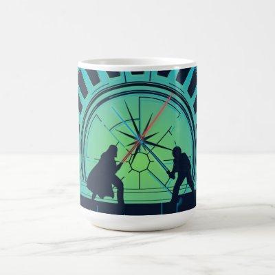 Darth Vader & Luke Skywalker Lightsaber Battle Coffee Mug