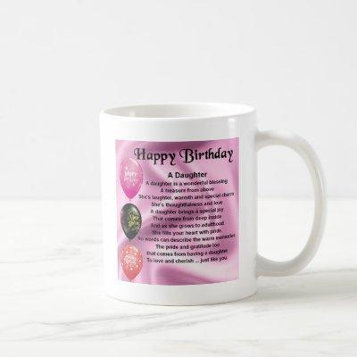 daughter poem  happy birthday coffee mug