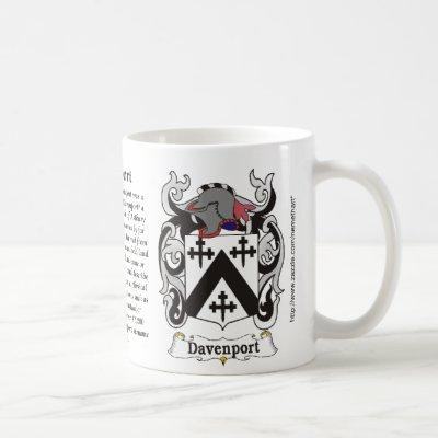 Davenport Family Coat of Arms mug