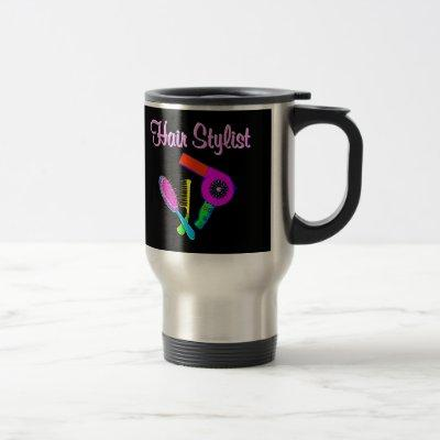 DAZZLING HAIR STYLIST TEES AND GIFTS TRAVEL MUG