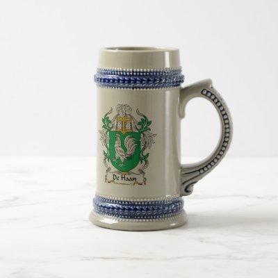 De Haan Family Crest Beer Stein