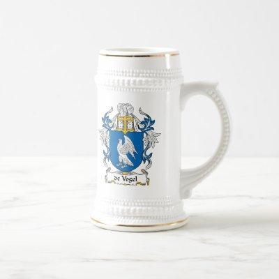 de Vogel Family Crest Beer Stein