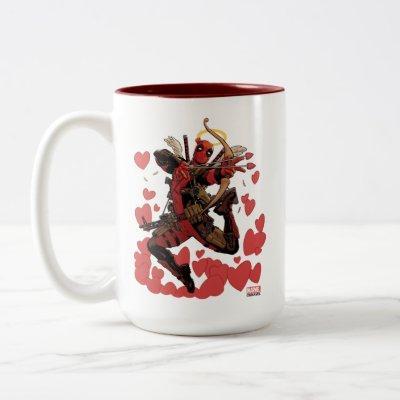 Deadpool Cupid Two-Tone Coffee Mug