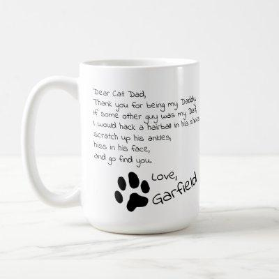 Dear Cat Dad Mom Customizable Pet Name Coffee Mug