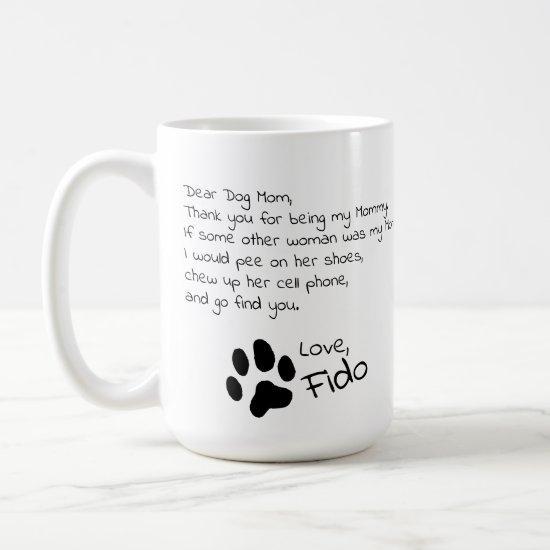 Dear Dog Mom Dad Customizable Pet Name Coffee Mug