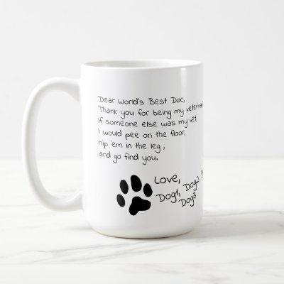 Dear Veterinarian Multiple Pet Names Coffee Mug