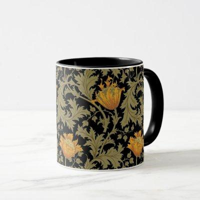 Dearle Gold Anemones William Morris Mug