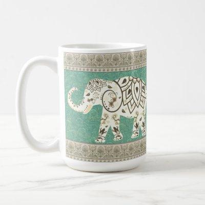 Decorative elephant mug