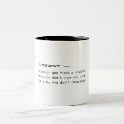 Definition of Programmer Two-Tone Coffee Mug