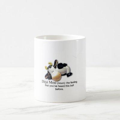 Deja Moo Bull Comic Coffee Mug