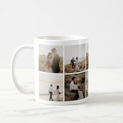 Delightful Wedding Adventures Photo Collage Mug