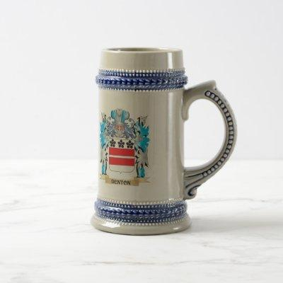 Denton Coat of Arms - Family Crest Beer Stein