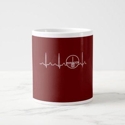 Dermatologist Heartbeat Giant Coffee Mug