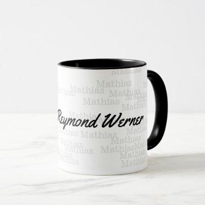 design a Combo mug with your own name in black