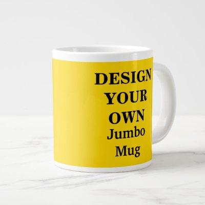 Design Your Own Jumbo Mug - Bright Yellow