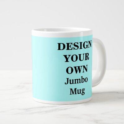 Design Your Own Jumbo Mug - Light Blue