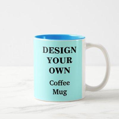 Design Your Own Mug - Light Blue