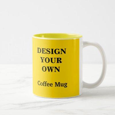 Design Your Own Mug - Yellow