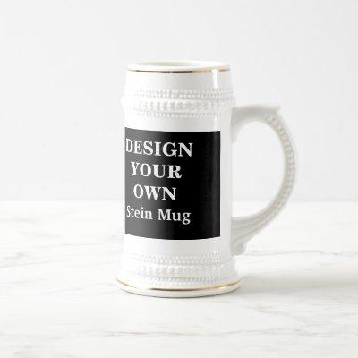 Design Your Own Stein Mug - Black and White