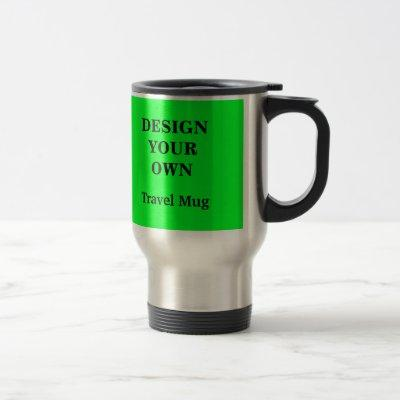 Design Your Own Travel Mug - Green and Silver