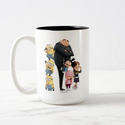 Despicable Me | Minions, Gru & Girls Two-Tone Coffee Mug