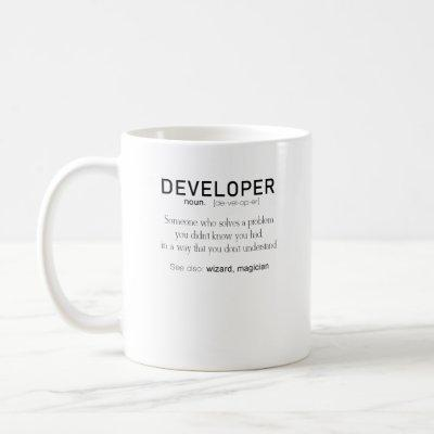 Developer Definition Coder Definition Funny Coffee Mug
