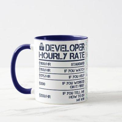 Developer Hourly Rate Code Mug