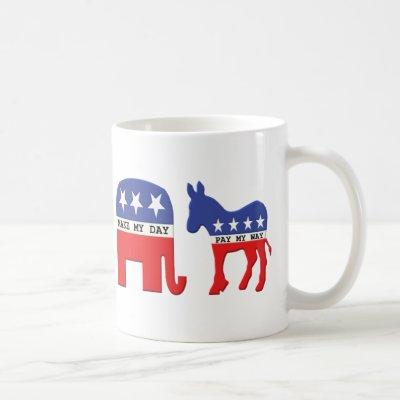 Difference Between Republicans and Democrats Funny Coffee Mug