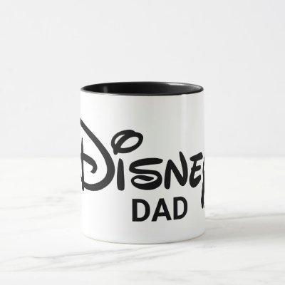 Disney Dad   White Logo Mug