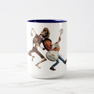 Disney Pixar Coco | Miguel | Dancing Friends Two-Tone Coffee Mug