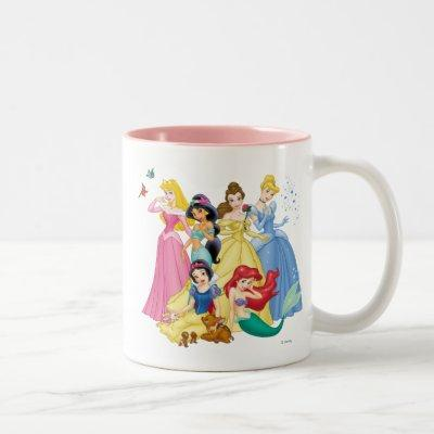 Disney Princess | Birds and Animals Two-Tone Coffee Mug