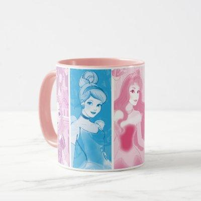 Disney Princess Colorful Portrait Collection Mug