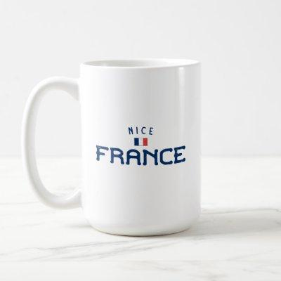 Distressed Nice France Coffee Mug