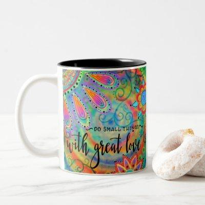 Do Small Things Two-Tone Coffee Mug