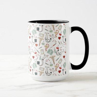 Doctor Nurse Pattern Mug