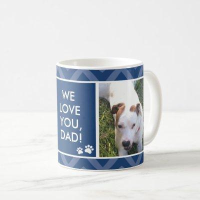 Dog Dads We/I Love You Custom Photo Blue Mug