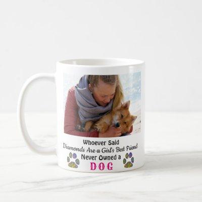 Dog Love Girl's Best Friend Pet Photo Coffee Mug