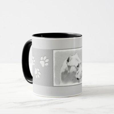 Dogo Argentino Painting - Original Dog Art Mug