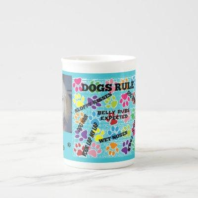 Dogs Rule Bone China Mug