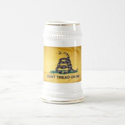Don't Tread On Me Tea Party Flag Beer Stein