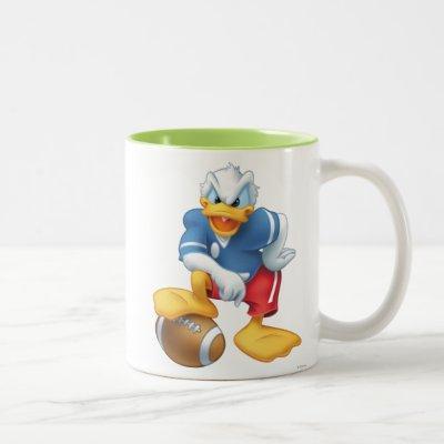 Donald Duck | Football Two-Tone Coffee Mug